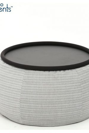 Ambient Lounge Outdoor Poef Versa Table - Silverline