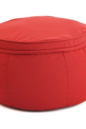Ambient Lounge Outdoor Poef Wing Ottoman - Crimson Vibe