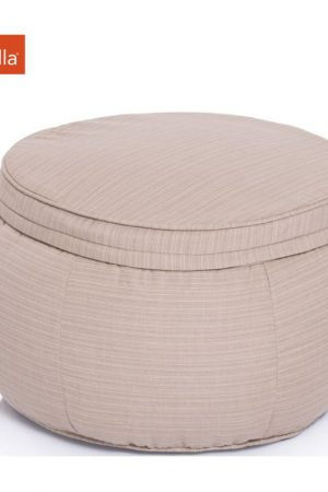 Ambient Lounge Outdoor Poef Wing Ottoman - Mudhoney Dune