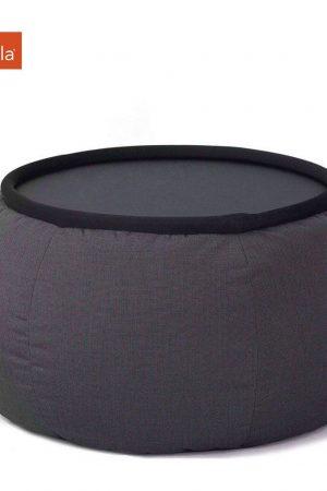 Ambient Lounge Outdoor Sunbrella Poef Versa Table - Black Rock
