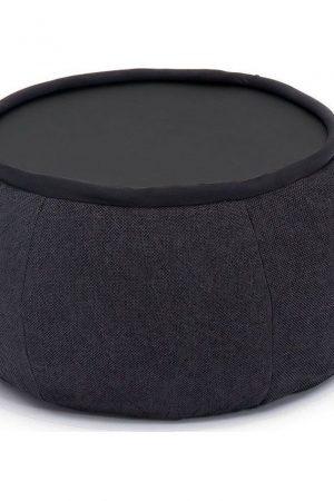 Ambient Lounge Poef Versa Table - Black Sapphire