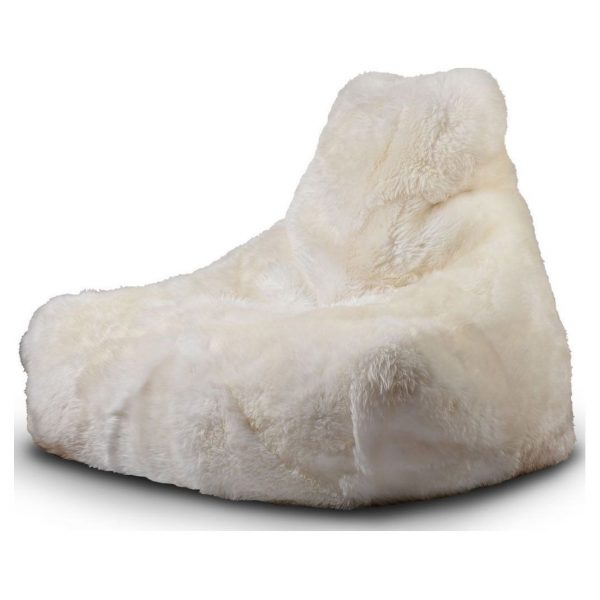 Extreme Lounging B-Bag Mighty-B Indoor Zitzak Sheepskin - Wit