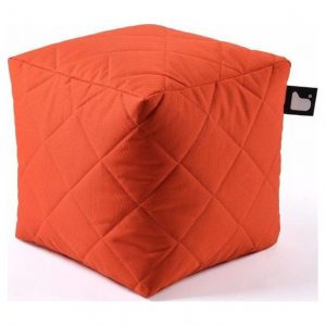 Extreme lounging B-Box Quilted Poef - Oranje
