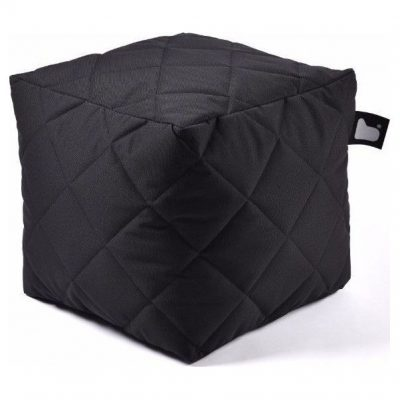 Extreme lounging B-Box Quilted Poef - Zwart
