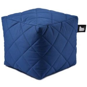 Extreme Lounging Poef B-box Quilted Donker Blauw