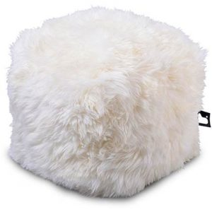 Extreme Lounging Poef B-box Sheepskin Wit