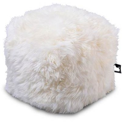 Extreme Lounging Poef B-box Sheepskin Wit