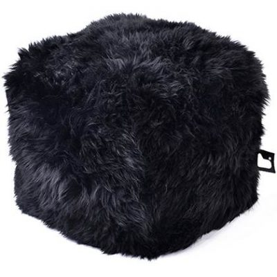 Extreme Lounging Poef B-box Sheepskin Zwart