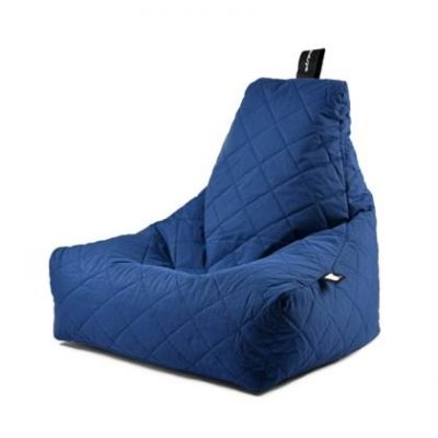Extreme Lounging Zitzak B-bag Quilted Donker Blauw