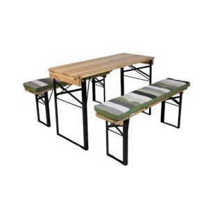 MaximaVida picknicktafel en biertafel kussenpakket Khaki 200 x 27