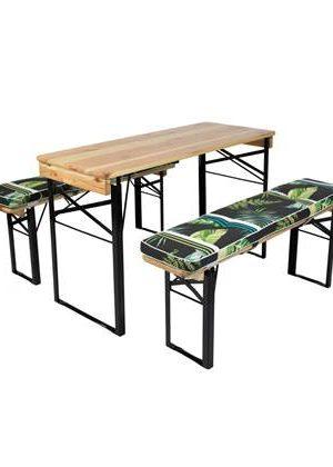 MaximaVida picknicktafel en biertafel kussenpakket Leaf 200 x 27