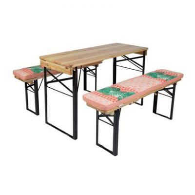 MaximaVida picknicktafel en biertafel kussenpakket Nina 120 x 27