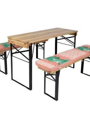 MaximaVida picknicktafel en biertafel kussenpakket Nina 200 x 27