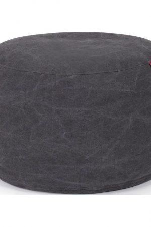 Outbag Poef Rock Canvas - black washed