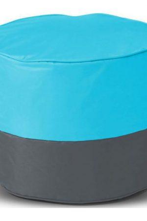Sit&joy Kinder Poef Rondo - Aquablauw