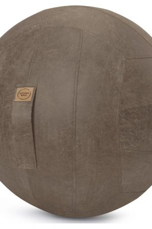 Sitting Ball Zitbal Frankie Leder 65 cm - Bruin