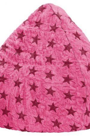 Sitting Point BeanBag Fluffy Stars XL - Roze