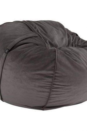 Vetsak FS600 (Medium) Velvet zitzak - donkergrijs
