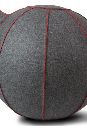 Vluv VELT zitbal Grijs - Melange/Rood 75cm