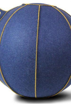 Vluv VELT zitbal Jeans-Melange/Goud 65cm