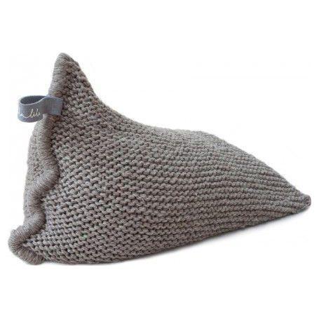 Zilalila Handgebreide Design Kinder Zitzak Nest - Greyish Brown