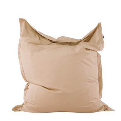 Beliani Bean bag Big Zitzak Beige