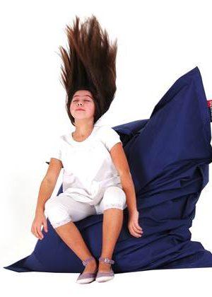 Beliani Bean Bag Big Zitzak Blauw