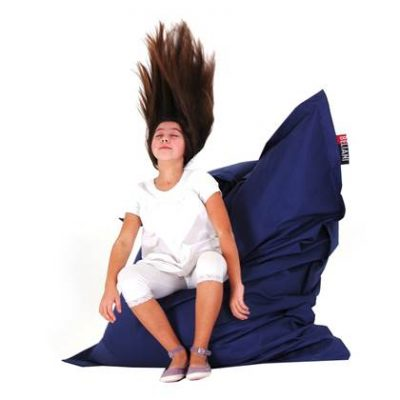 Beliani Bean Bag Big Zitzak Blauw