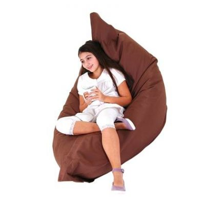 Beliani Bean Bag Big Zitzak Bruin