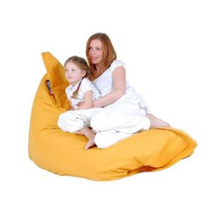 Beliani Bean Bag Big Zitzak Geel