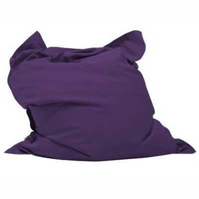 Beliani Bean Bag Big Zitzak Paars