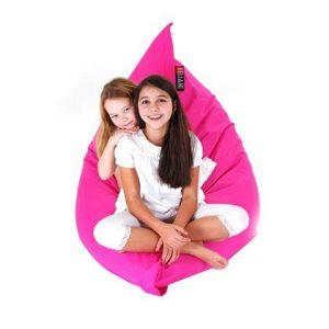 Beliani Bean Bag Big Zitzak Roze