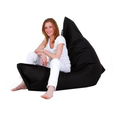 Beliani Bean Bag Big Zitzak Zwart