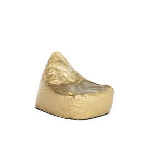 Beliani DROP Zitzak Goud Synthetisch materiaal
