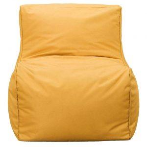 Lebel loungestoel - okergeel - 80x60x65 cm - Leen Bakker