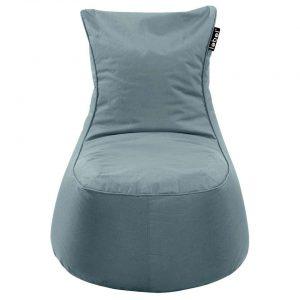 Lebel loungestoel - agave blauw - 100x80x80 cm - Leen Bakker
