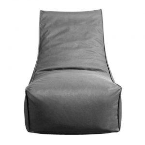 Lebel Lounger - antraciet - 90x65x80 cm - Leen Bakker