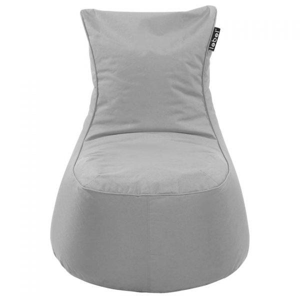Lebel loungestoel - grijs - 100x80x80 cm - Leen Bakker