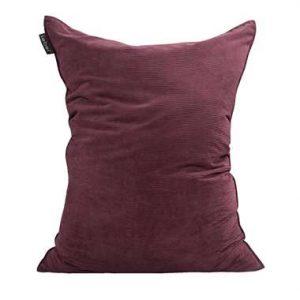 Zitzak - rib velours rood/paars - 100x150 cm - Leen Bakker