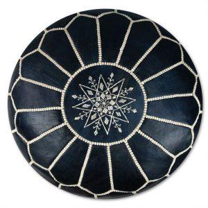 Poufs&Pillows Poef Leder - Blauw