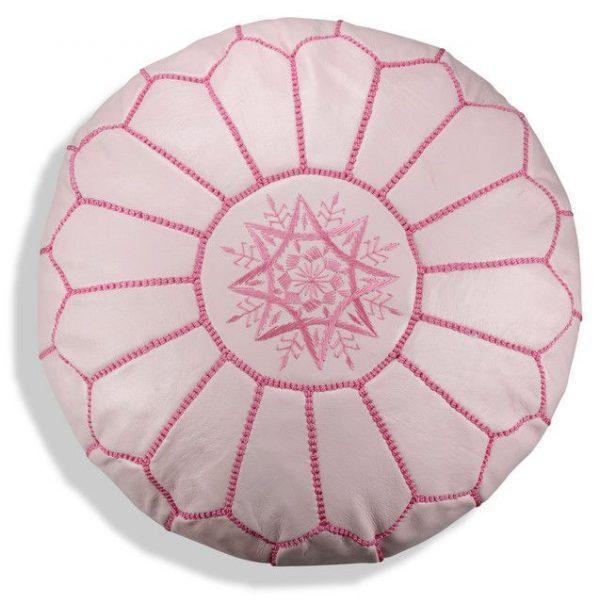 Poufs&Pillows Poef Leder - Roze