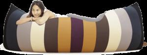 Terapy - Baloo Zitzak - Classic Colours ( Regenboog ) - 180cm x 80cm x 50cm - Katoen
