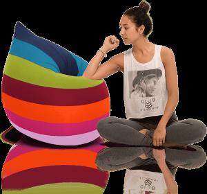 Terapy - Elly Zitzak - Happy Colours ( Regenboog ) - 100cm x 80cm x 50cm - Katoen