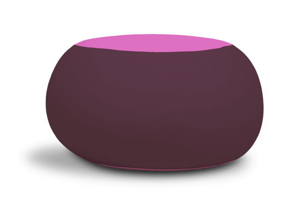 Terapy - Ollie Zitzak - Aubergine / Roze - 100cm x 100cm x 80cm - Katoen