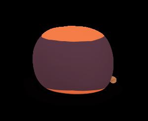 Terapy - Stanley Zitzak - Aubergine / Oranje - 70cm x 70cm x 60cm - Katoen