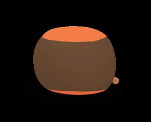 Terapy - Stanley Zitzak - Bruin / Oranje - 70cm x 70cm x 60cm - Katoen