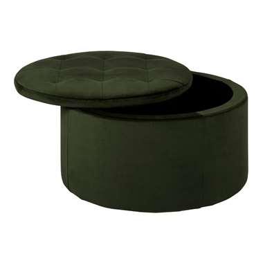 Poef Debussy - groen - 35x60 cm - Leen Bakker