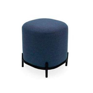 Tenzo poef Harry - blauw - 46x42x42 cm - Leen Bakker