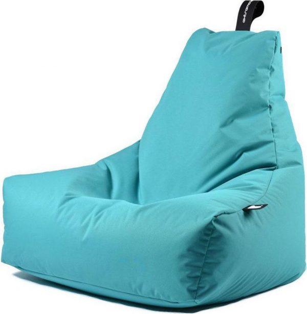 Extreme Lounging b-bag - Luxe zitzak - Indoor en outdoor - Waterafstotend - 95 x 95 x 90 cm - Polyester - Aquablauw