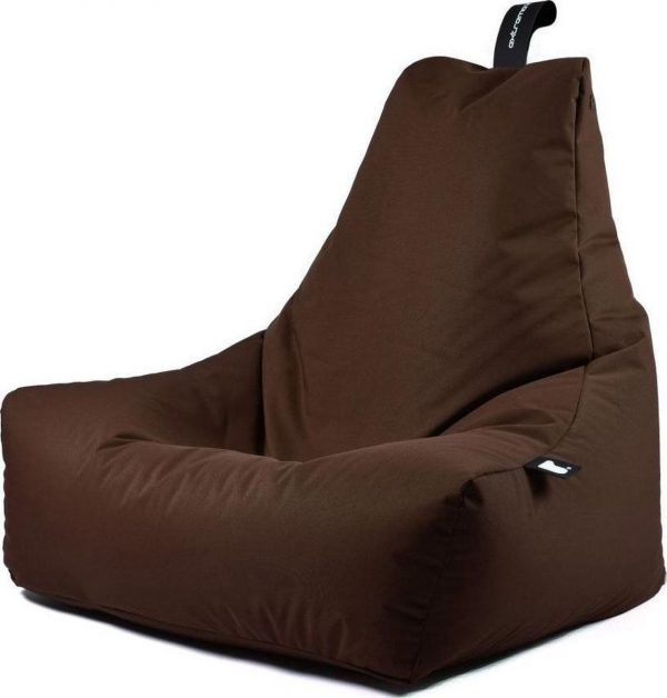 Extreme Lounging b-bag - Luxe zitzak - Indoor en outdoor - Waterafstotend - 95 x 95 x 90 cm - Polyester - Bruin